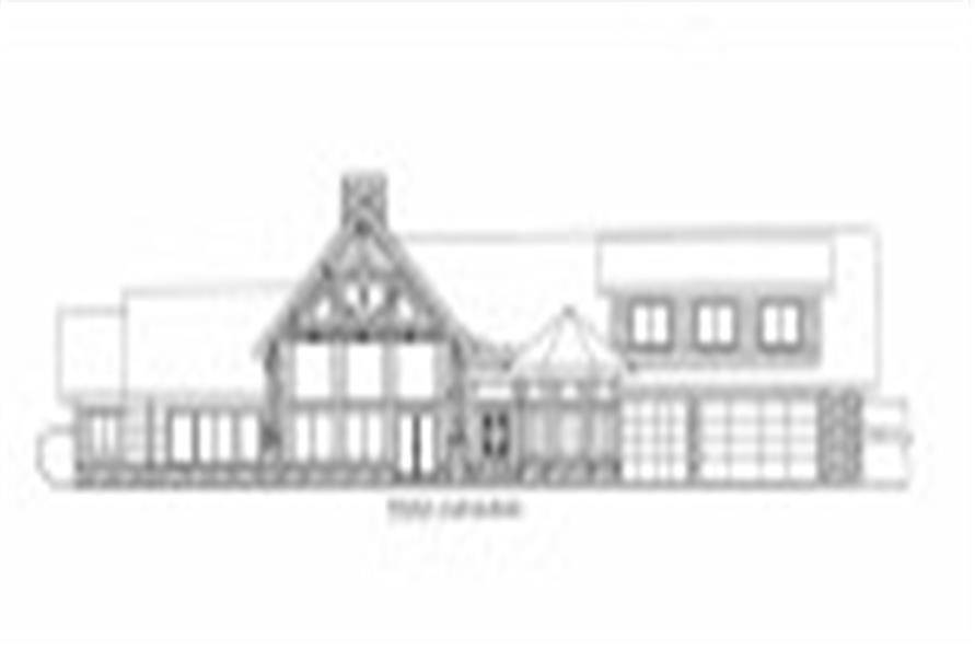 132-1535: Home Plan Front Elevation