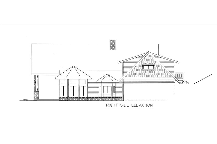 132-1535: Home Plan Right Elevation
