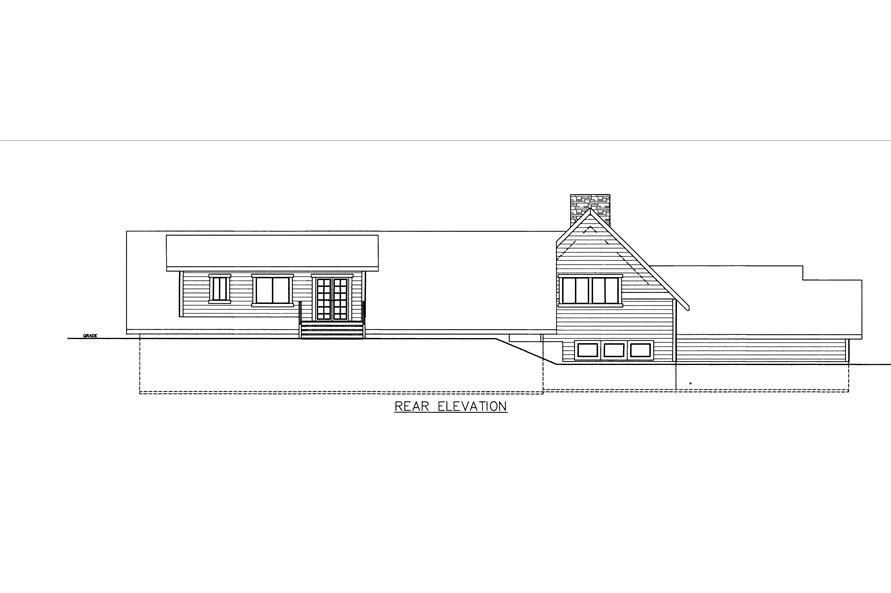 Home Plan Rear Elevation of this 3-Bedroom,4312 Sq Ft Plan -132-1535