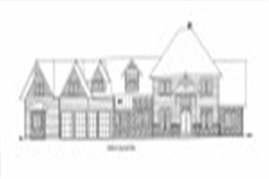 132-1536: Home Plan Front Elevation