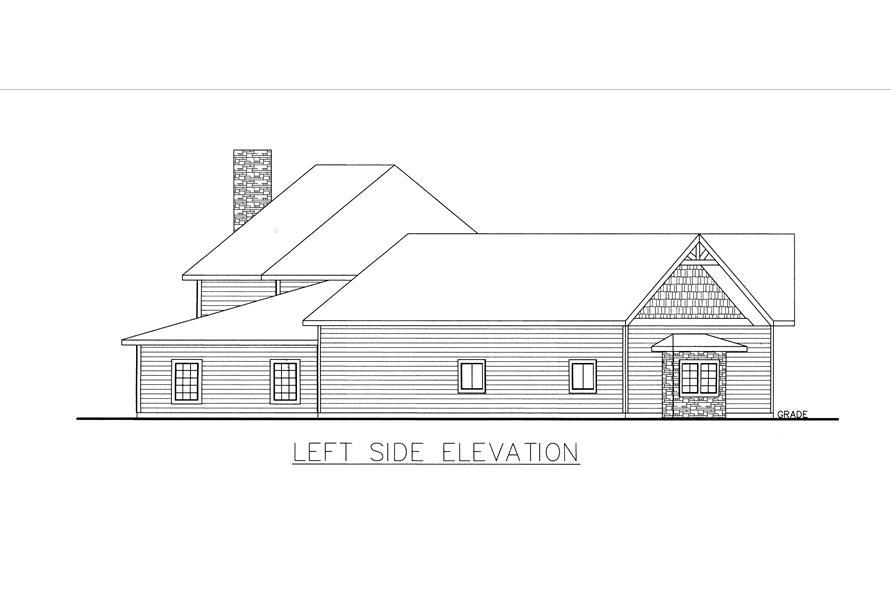 132-1536: Home Plan Left Elevation