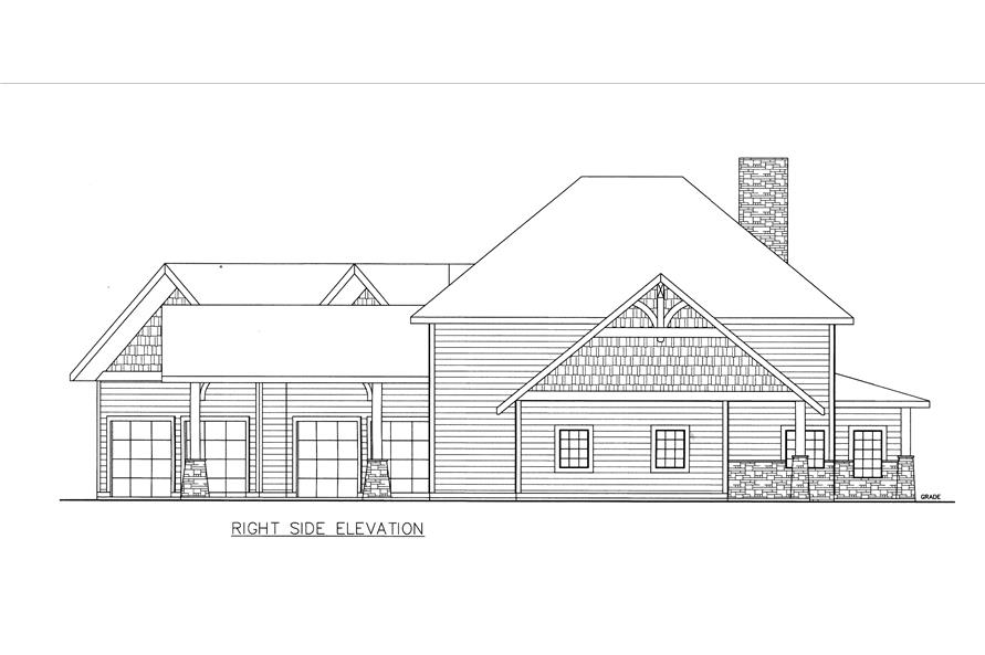 132-1536: Home Plan Right Elevation