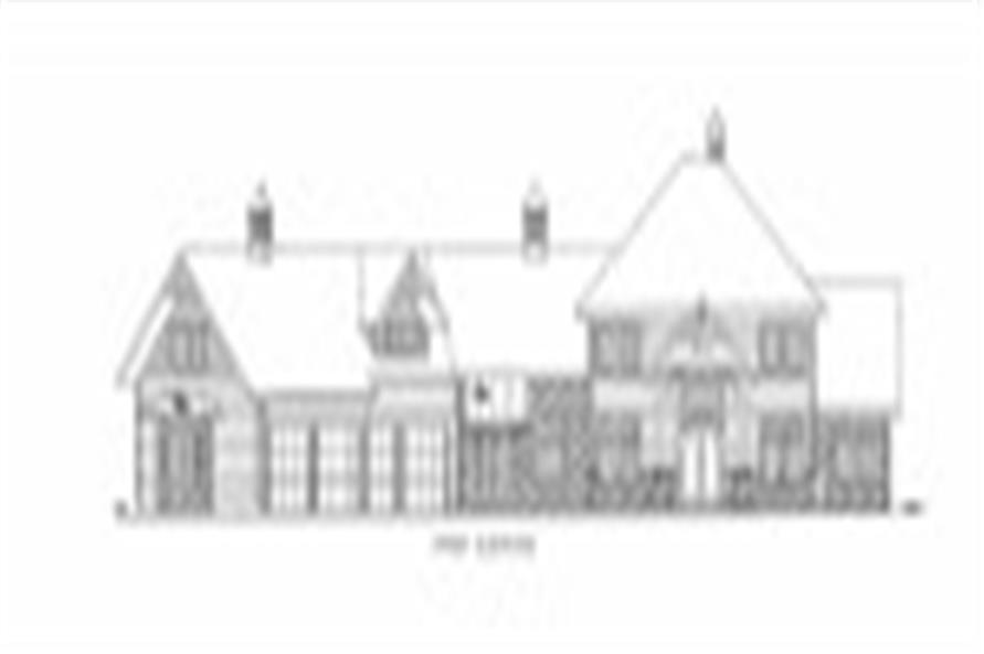132-1537: Home Plan Front Elevation