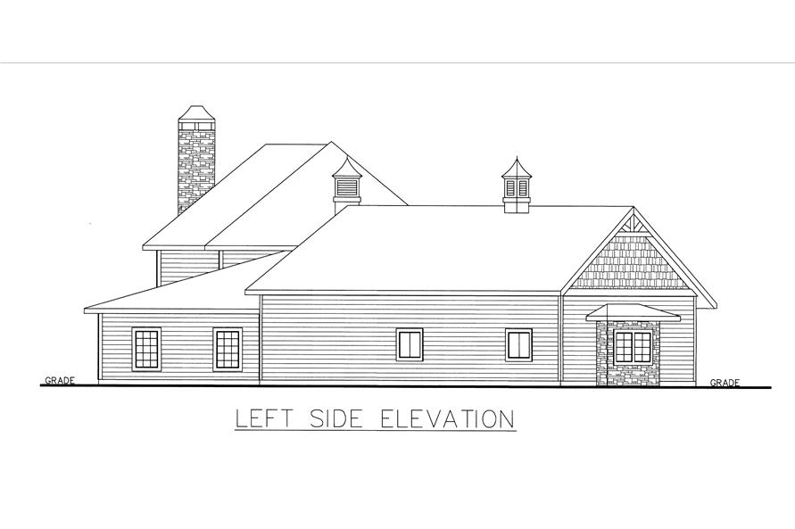 132-1537: Home Plan Left Elevation