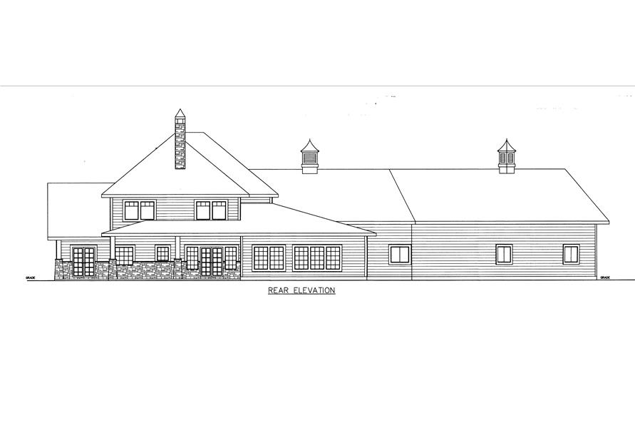 132-1537: Home Plan Rear Elevation