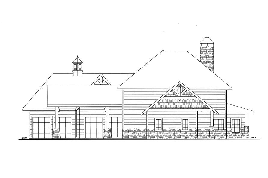 132-1537: Home Plan Right Elevation