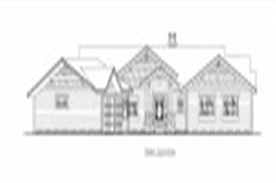132-1538: Home Plan Front Elevation