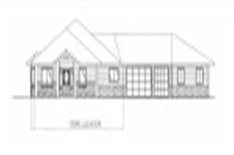 132-1539: Home Plan Front Elevation