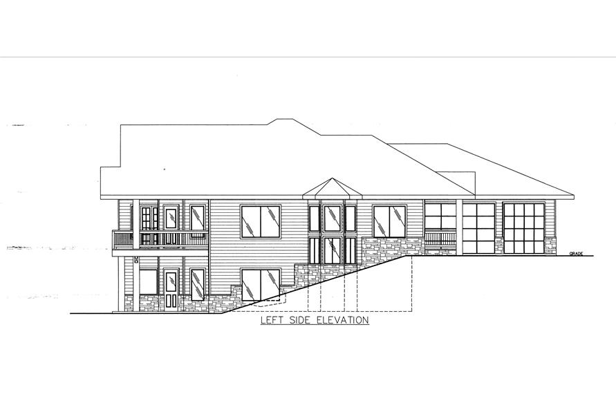 132-1539: Home Plan Left Elevation