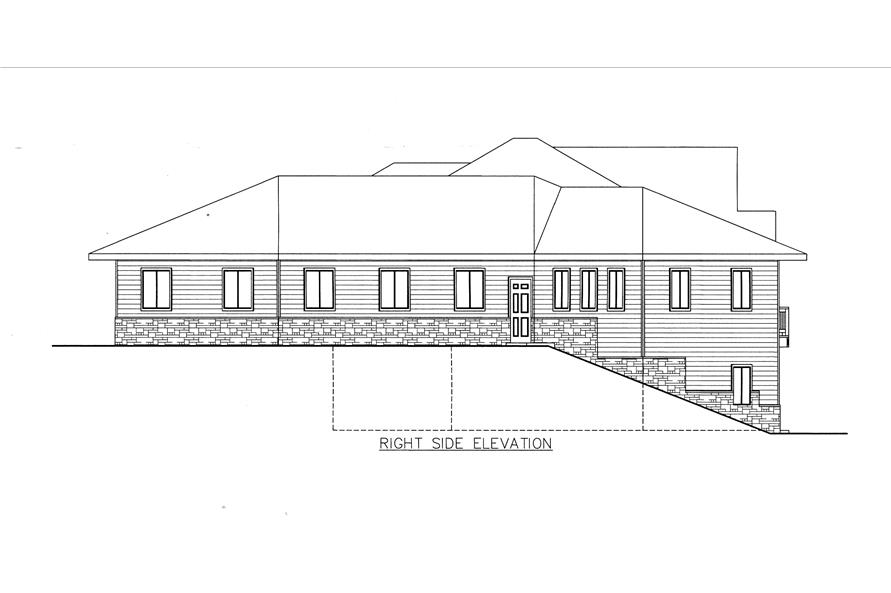 132-1539: Home Plan Right Elevation