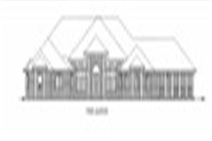 132-1540: Home Plan Front Elevation