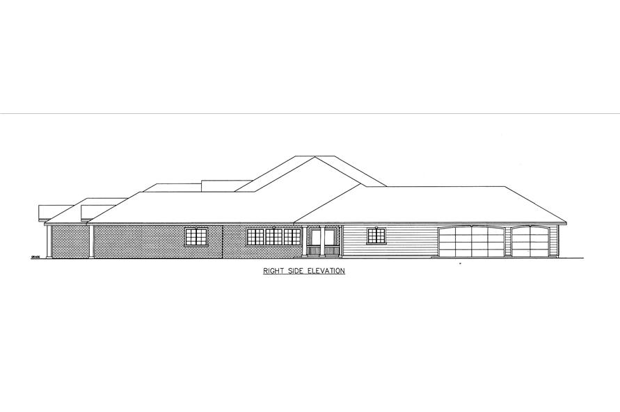 132-1540: Home Plan Right Elevation