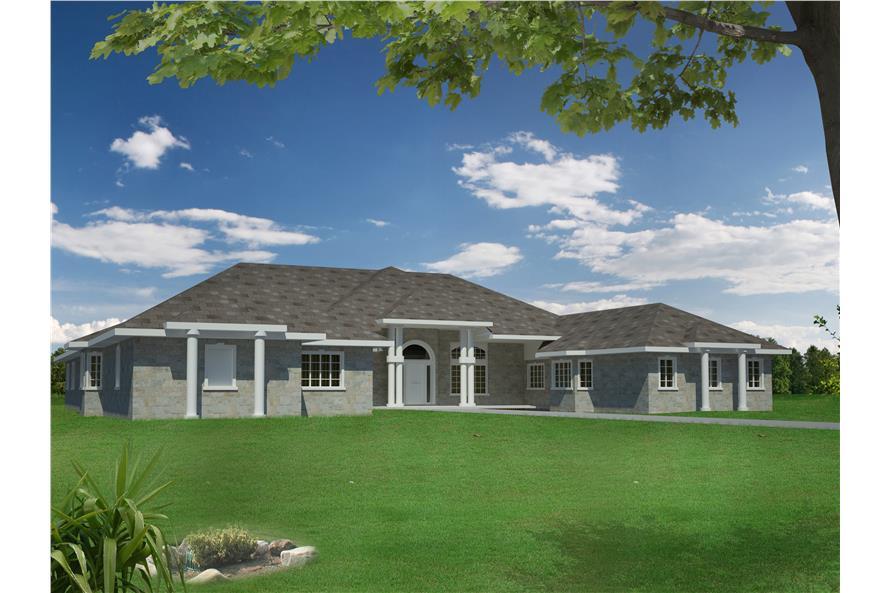 132-1540: Home Plan Rendering