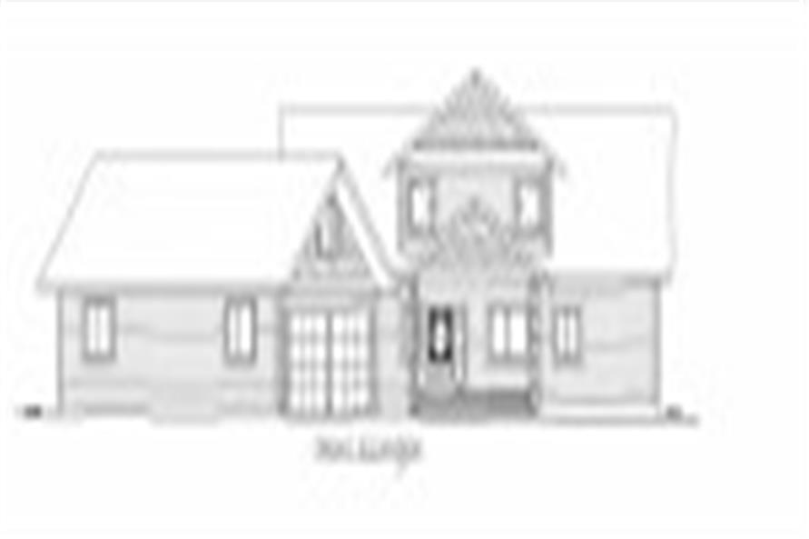 132-1541: Home Plan Front Elevation