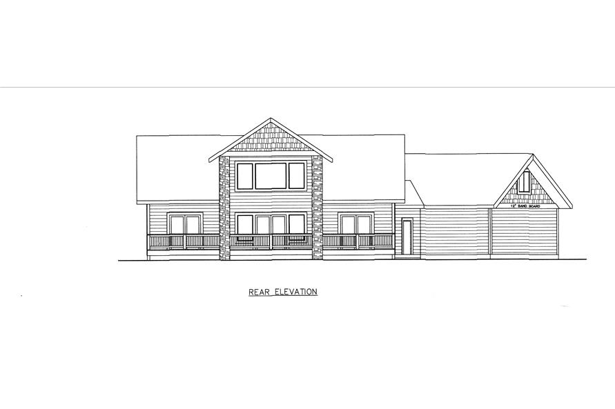 132-1541: Home Plan Rear Elevation