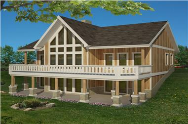 4-Bedroom, 4242 Sq Ft Transitional Home Plan - 132-1542 - Main Exterior