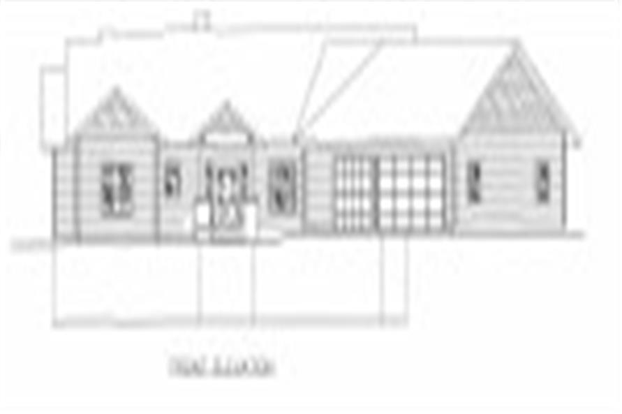 132-1543: Home Plan Front Elevation