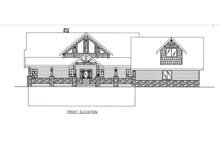 132-1545: Home Plan Front Elevation