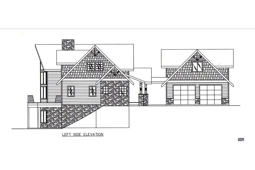 Home Plan Left Elevation of this 3-Bedroom,2522 Sq Ft Plan -132-1545