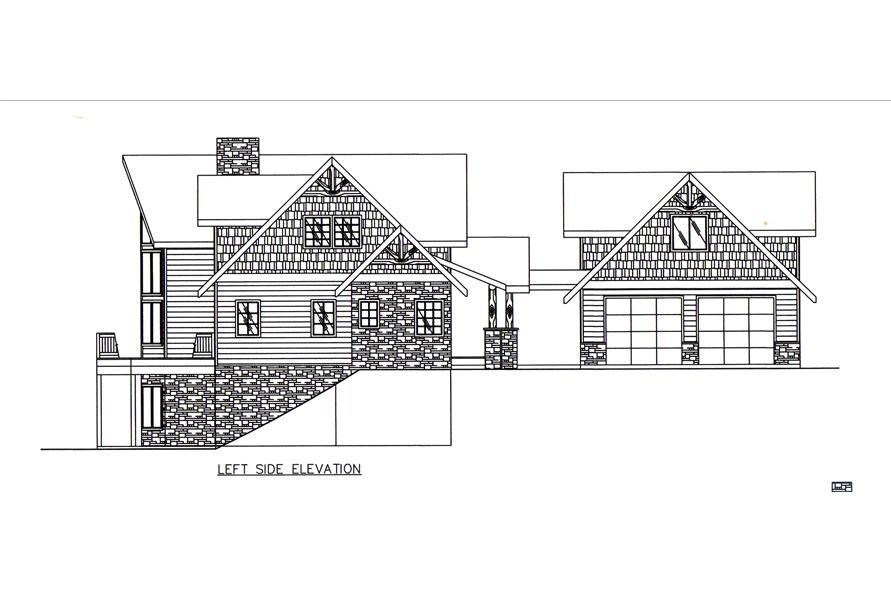 132-1545: Home Plan Left Elevation