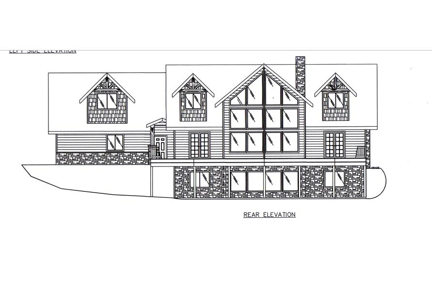 132-1545: Home Plan Rear Elevation