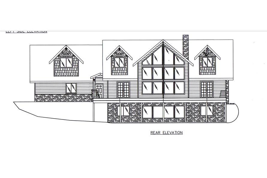 132-1545: Home Plan Rear Elevation