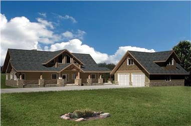 3-Bedroom, 2522 Sq Ft Traditional Home Plan - 132-1545 - Main Exterior