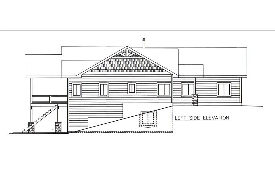 132-1546: Home Plan Left Elevation