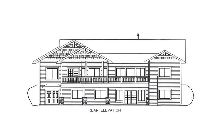132-1546: Home Plan Rear Elevation