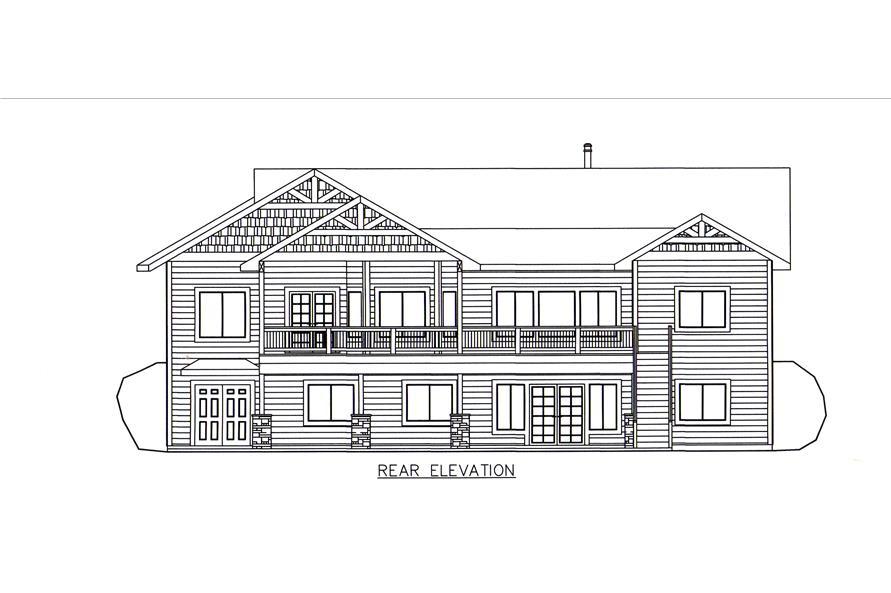 132-1546: Home Plan Rear Elevation