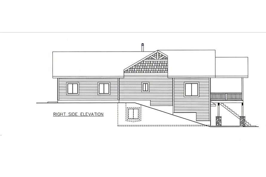 132-1546: Home Plan Right Elevation