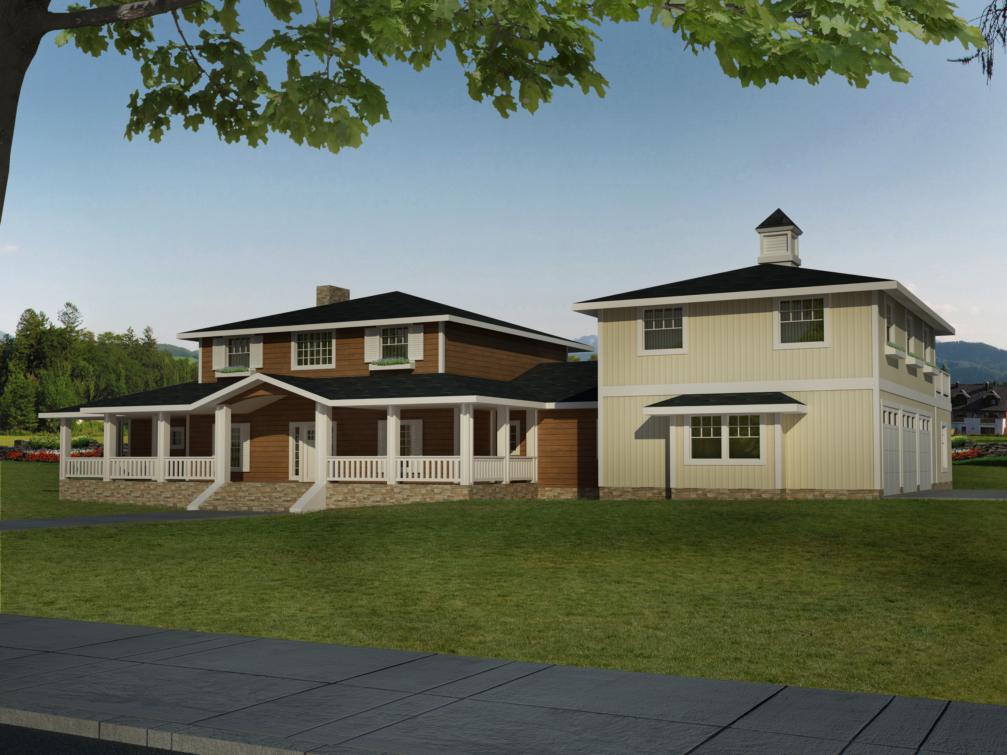 Transitional house plan 132 1547 4 bedrm 3579 sq ft for Transitional house plans