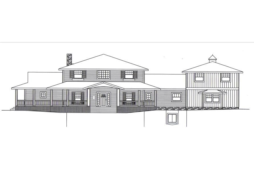 132-1547: Home Plan Front Elevation