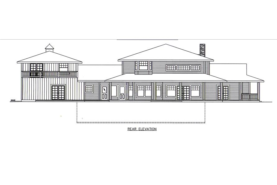 132-1547: Home Plan Rear Elevation