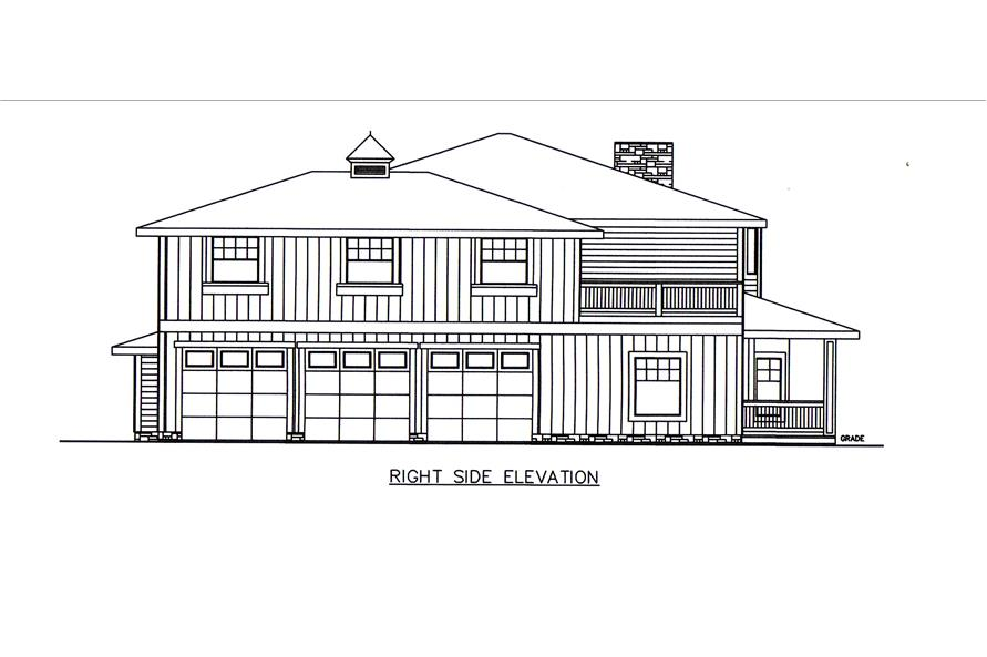 132-1547: Home Plan Right Elevation