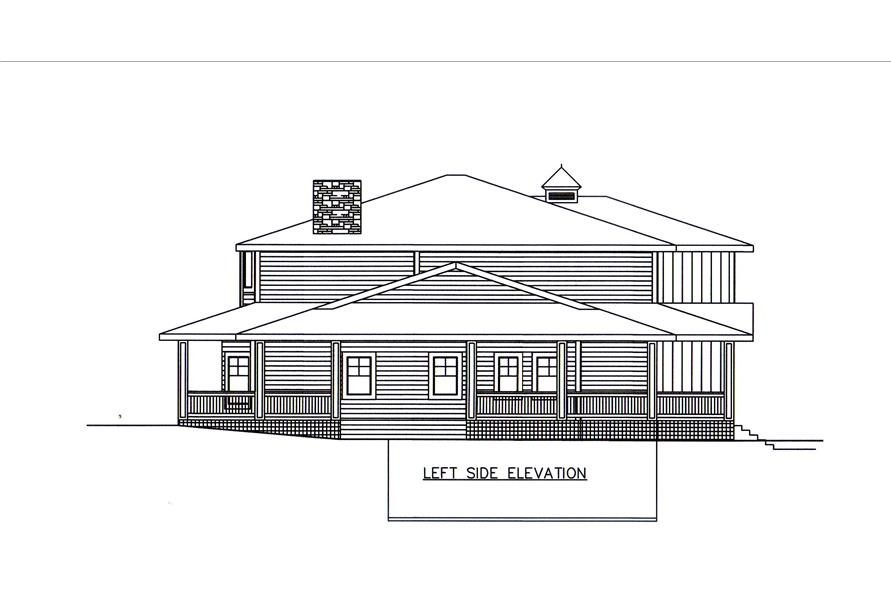 132-1547: Home Plan Left Elevation