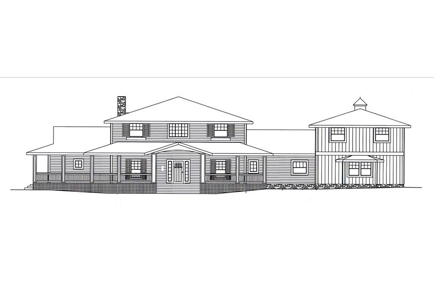 132-1548: Home Plan Front Elevation