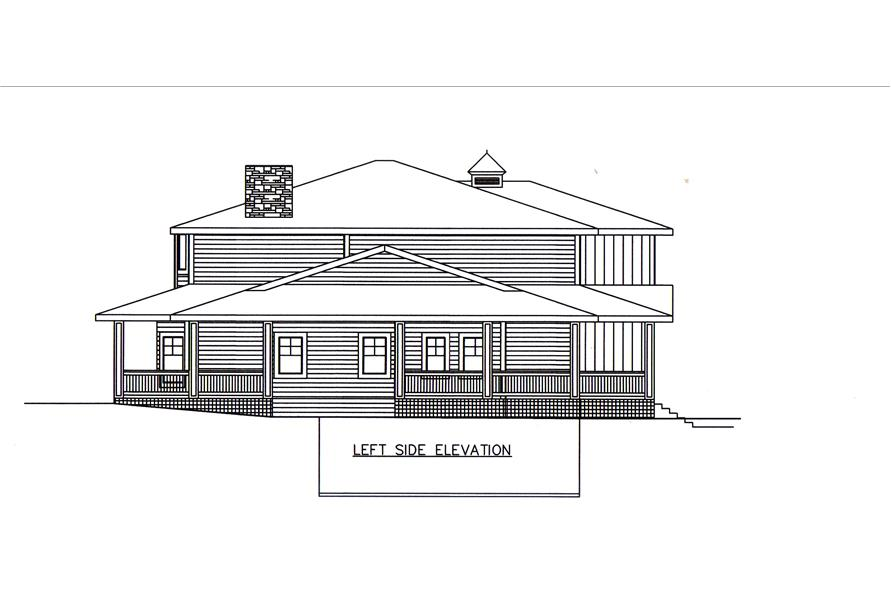 132-1548: Home Plan Left Elevation