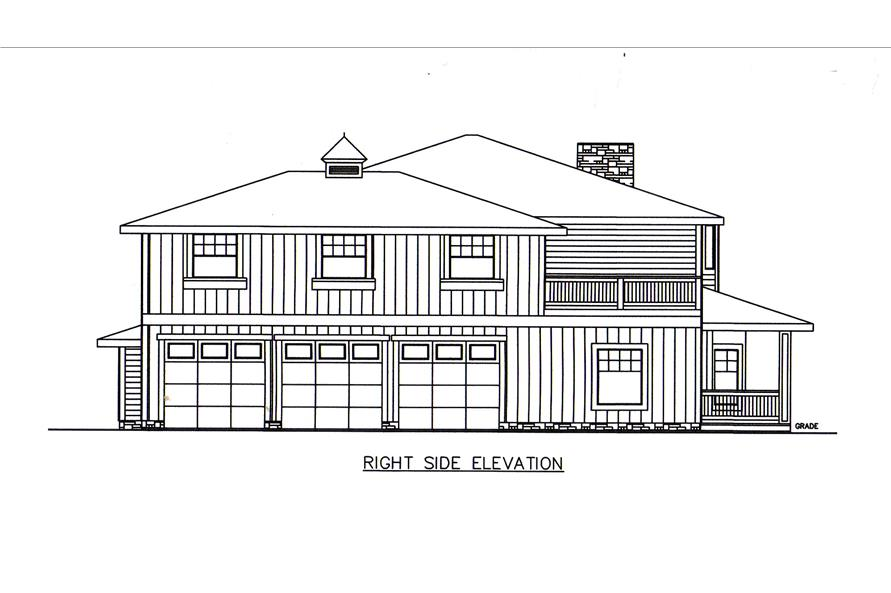 132-1548: Home Plan Right Elevation