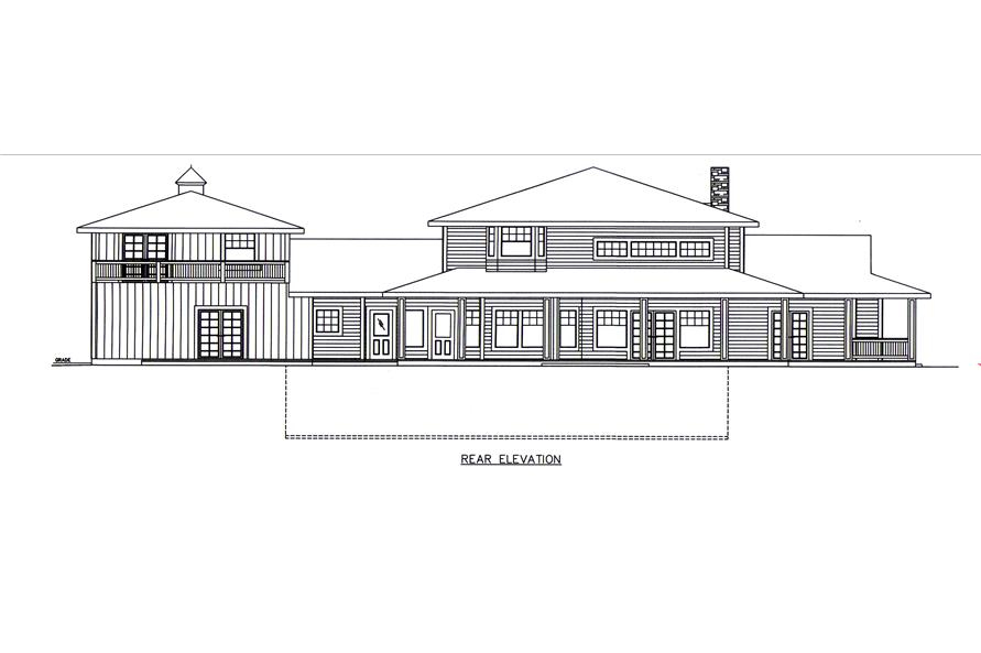 132-1548: Home Plan Rear Elevation