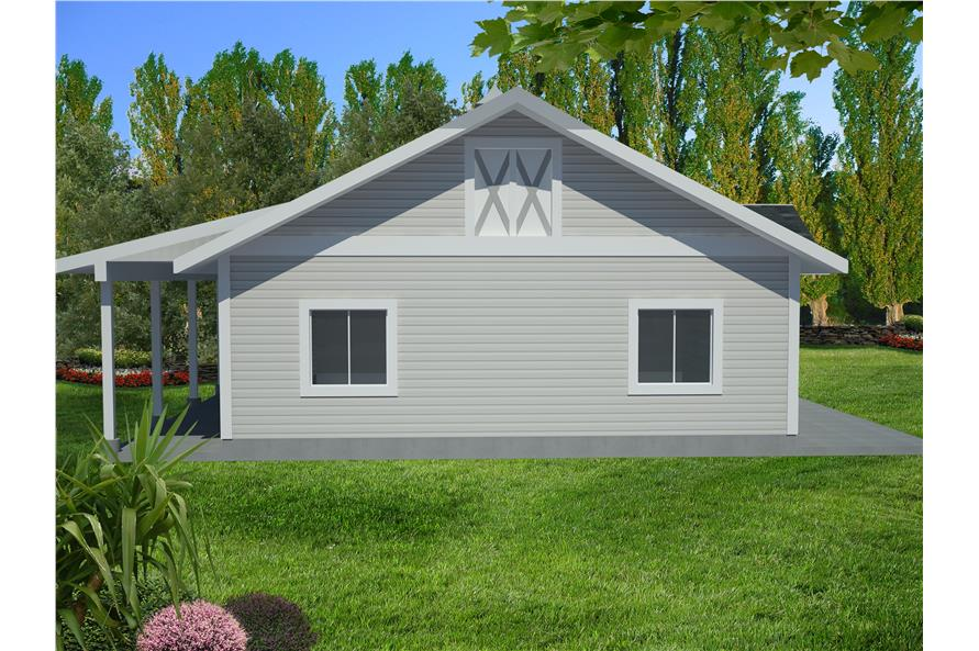 132-1549: Home Plan Front Elevation