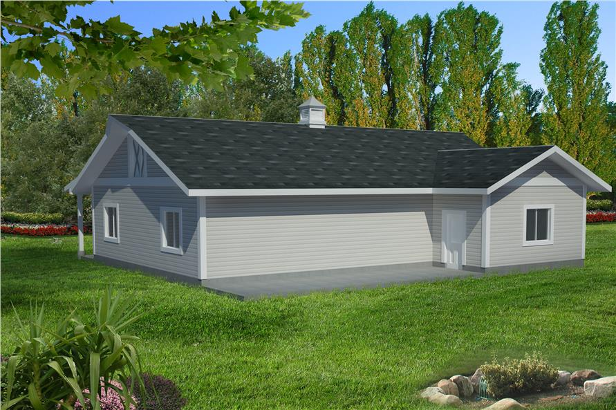 132-1549: Home Plan Right Elevation