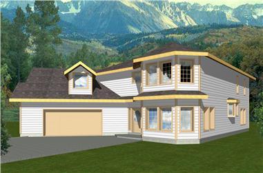 3-Bedroom, 2737 Sq Ft Modern Home Plan - 132-1550 - Main Exterior