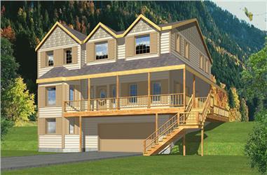 4-Bedroom, 2823 Sq Ft Craftsman Home Plan - 132-1551 - Main Exterior