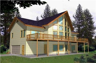 2-Bedroom, 3193 Sq Ft Cottage Home Plan - 132-1559 - Main Exterior