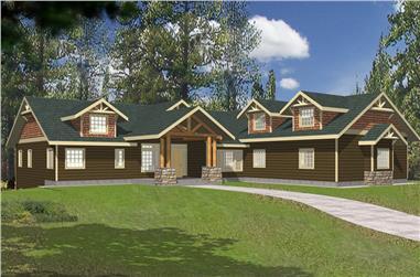 5-Bedroom, 4790 Sq Ft Coastal Home Plan - 132-1562 - Main Exterior
