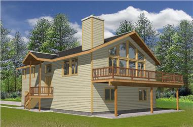 3-Bedroom, 2165 Sq Ft Cottage Home Plan - 132-1564 - Main Exterior