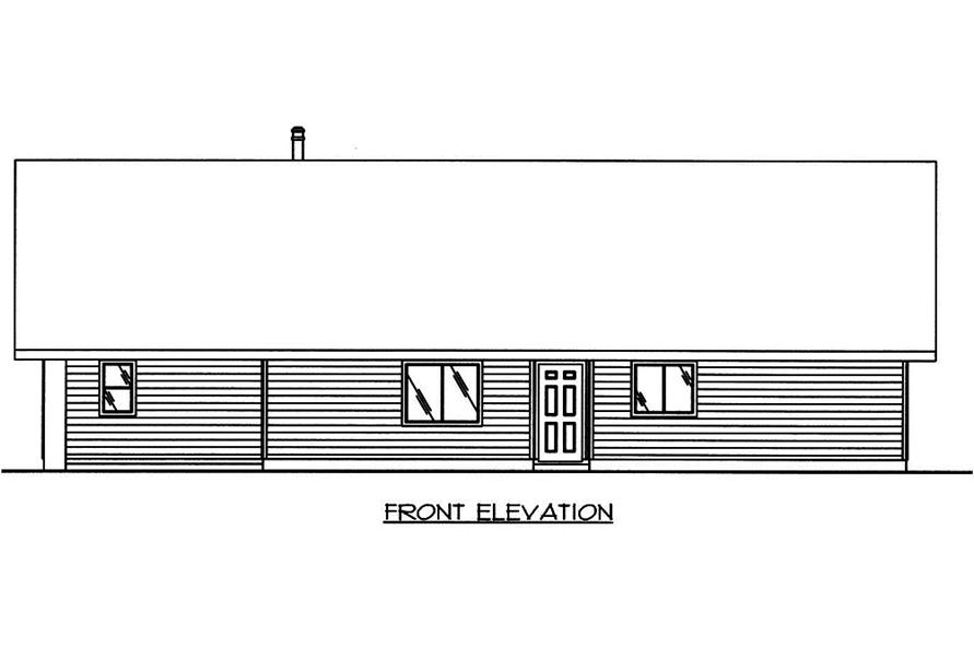 132-1565: Home Plan Front Elevation