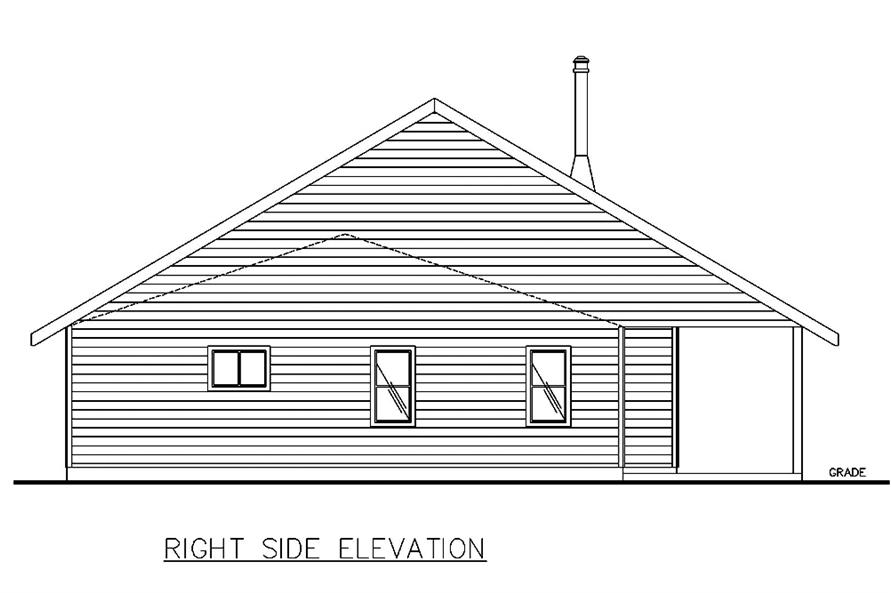 132-1565: Home Plan Right Elevation