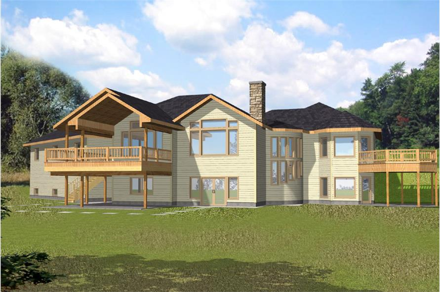 5-Bedroom, 4286 Sq Ft Cottage House Plan - 132-1566 - Front Exterior